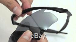 New Oakley SI M Frame Hybrid Sunglasses Matte Black/Gray Sport Shield 11-057
