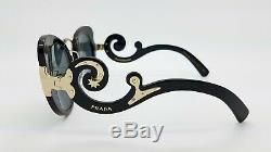 New Prada Baroque sunglasses PR07TS 1AB1A1 54mm Black Gold Grey AUTHENTIC PR 07
