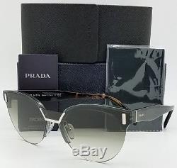 New Prada sunglasses PR04US VlP0A7 Clear Tortoise Grey Gradient AUTHENTIC PR 04