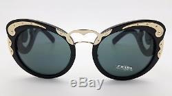 New Prada sunglasses PR07TS 1AB1A1 Black Swirls MINIMAL BAROQUE PR 07 AUTHENTIC