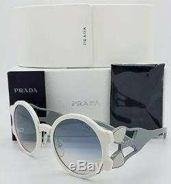 New Prada sunglasses PR13US YEB5R0 Round White Blue Gradient PR 13 GENUINE 13US