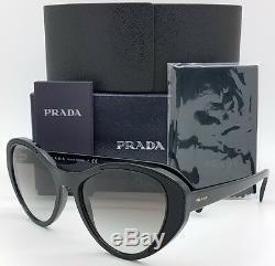 New Prada sunglasses PR14US 1AB0A7 Black Gradient AUTHENTIC Women PR 14 Heart