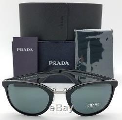New Prada sunglasses PR22SS 1AB1A1 52 Black Grey Cat Eye PR 22 Classic AUTHENTIC