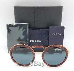 New Prada sunglasses PR50TS UE02K1 54mm Tortoise Gold Round PR50 PR 50 fashion