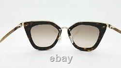 New Prada sunglasses PR53SS 2AU3D0 52mm Gold Dark Havana Brown Gradient GENUINE
