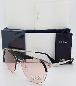 New Prada sunglasses PR53US 1AB4Q0 Pink Silver Aviator Fashion PR 53 US GENUINE