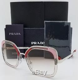 New Prada sunglasses PR57US LOH1L0 54 Brown Pink Clear Gradient AUTHENTIC PR 57