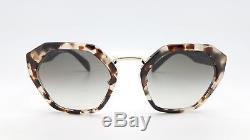 New Prada sunglasses PR 04TS UAO0A7 55mm Tortoise Gold Hex PR04 PR 04 AUTHENTIC