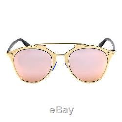 New Rose Gold Mirrored Aviator Retro Style Sunglasses 400 UV FREE CASE UK SELLER