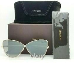 New Tom Ford Elise sunglasses FT0569 28C 65mm Silver Gradient Butterfly GENUINE