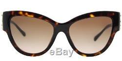 New Versace VE 4322 108/13 Womens Cat Eye Havana Brown Medusa Sunglasses