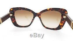 New Versace sunglasses VE4305Q 514813 Tortoise Gold Medusa 4305 Cat eye GENUINE