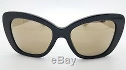 New Versace sunglasses VE4305Q GB1/5A Black Gold Medusa 4305 Cat eye GENUINE