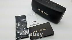 New Versace sunglasses VE4314 GB1/11 56mm Black Gold Grey Gradient AUTHENTIC