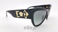 New Versace sunglasses VE4322 GB1/11 Black Grey Medusa 4322 CatEye cat AUTHENTIC