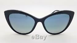 New Versace sunglasses VE4348 52301G Navy Silver Gold Medusa 4348 CatEye GENUINE