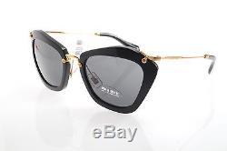 New original Miu Miu SMU 10NS 1AB-1A1 55 Women`s Sunglasses Black Gray