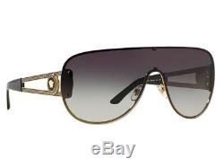 Nwt Versace Sunglasses Ve 2166 12528g Pale Gold/grey 100 % Authentic 41 MM