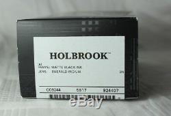 OAKLEY OO 9244-07 HOLBROOK Matte Black Ink w Emerald Iridium NEU