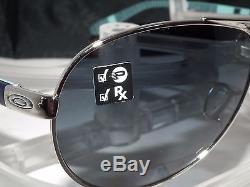 OAKLEY POLARIZED FEEDBACK AVIATOR OO4079-07 Polished Chrome Black Grey Gradient