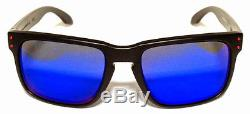 Oakley 9102 36 Holbrook Nero Satinato Red Iridium Matte Black Occhiale Sole