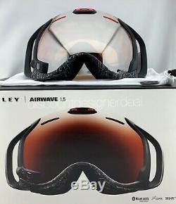 Oakley Airwave 1.5 Goggles OO7049-06 Black Iridium Silver Text HUD Bluetooth GPS