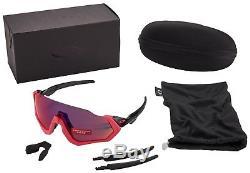 Oakley Flight Jacket Sunglasses OO9401-0637 Neon Pink Prizm Road Lens BNIB