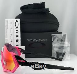 Oakley Flight Jacket Sunglasses OO9401-0637 Polished Black Pink PRIZM ROAD