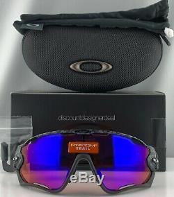 Oakley Jawbreaker Sunglasses OO9290-25 Black Carbon Frame Prizm Trail Lens New