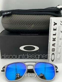 Oakley LATCH ALPHA Sunglasses OO4128-04 Gunmetal Sapphire Irid Polarized Prizm