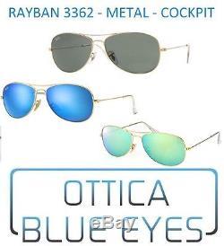 Occhiali da Sole RAYBAN COCKPIT METAL RB 3362 Ray Ban Sunglasses GAFAS MIRROR