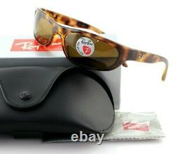 POLARIZED NEW Genuine RAY-BAN Predator Tortoise Wrap Sunglasses RB 4033 642/47