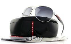 POLARIZED New PRADA Benbow Aviator Pilot Metal Sunglasses PS 53PS 1BC5W1 SPS 53P