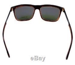 POLARIZED Rare TOM FORD KARLIE Black Havana Square Sunglasses TF 392 FT 0392 01R