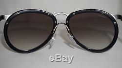 PRADA New Sunglasses Aviator Black Gunmetal Gray Gradient PR 01TS 1AB0A7 56 145