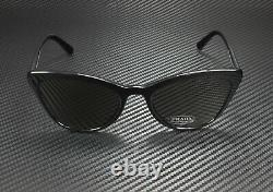 PRADA PR 01VS 1AB5S0 Catwalk Black Grey 56 mm Women's Sunglasses