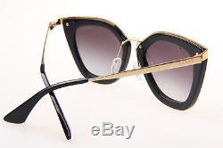 Prada SPR53S (1AB-0A7) 52-21-140 Women Sunglasses in Black 100% UV