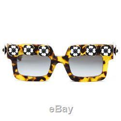 Prada SPR 25PS Limited Edition Poeme Sunglasses Tortoise Havana Brown / Black
