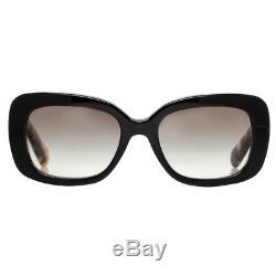 Prada SPR 27O NAI-0A7 Black/Havana Brown Women's Baroque Swirl Square Sunglasses