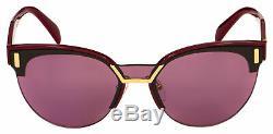 Prada Sunglasses PR 04US TY7098 43 Bordeaux Frame Violet Lens