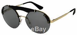 Prada Sunglasses PR 52US 1AB3C2 37 Black/Gold Frame Grey Lens