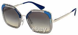 Prada Sunglasses PR 57US LMD130 54 Transparent/Silver Grey Gradient Lens