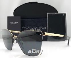 Prada Sunglasses Polarized Brand New SPR 68TS 7OE5Z1 ANTIQUE GOLD / GRAY 63mm