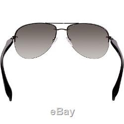 Prada Women's Gradient Linea Rossa PS56MS-5AV3M1-62 Black Aviator Sunglasses