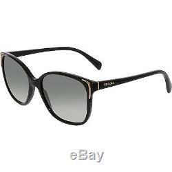 Prada Women's Gradient PR01OS-1AB3M1-55 Black Cat Eye Sunglasses