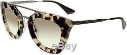 Prada Women's Gradient PR09QS-UAO1L0-49 Tortoiseshell Butterfly Sunglasses