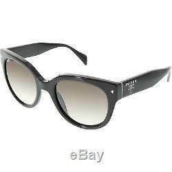 770ef83208a Prada Women s Gradient Pr17os-1ab0a7-54 Black Round Sunglasses