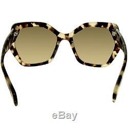 Prada Women's PR16RS-UAO3D0-56 Tortoiseshell Butterfly Sunglasses