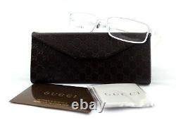 RARE NEW Authentic GUCCI TITANIUM White RX EyeGlasses Frame Glasses GG 1885 DMV