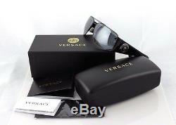 RARE NEW Genuine VERSACE Vanitas Medallion Black Grey Sunglasses VE 2163 1381/6G